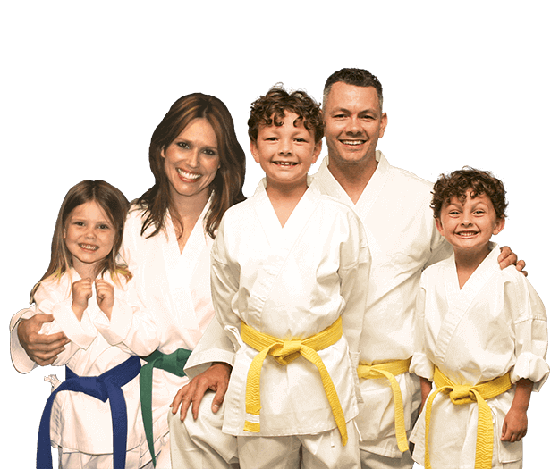 Martial Arts Lessons for Families in Carmichael CA - Group Family for Martial Arts Footer Banner