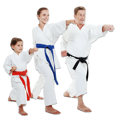Martial Arts Lessons for Families in Carmichael CA - Man and Daughters Family Punching Together