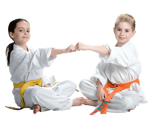 Martial Arts Lessons for Kids in Carmichael CA - Kids Greeting Happy Footer Banner
